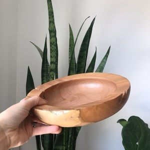 Hand carved decorative wood bowl